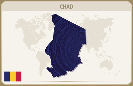 chad: CHAD map graphic vector.
