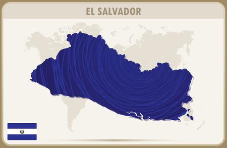 mapa de el salvador: EL SALVADOR mapa gr�fico vectorial.