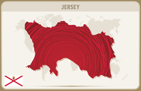 jersey: JERSEY map graphic vector. Illustration