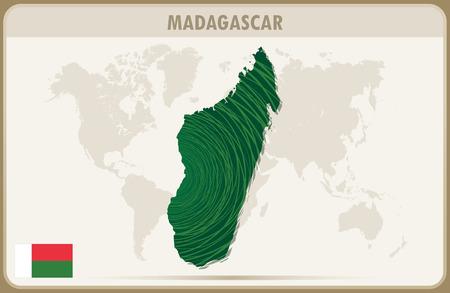 graphic: MADAGASCAR map graphic vector.