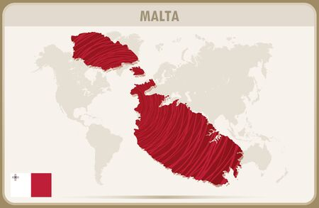 malta: MALTA map graphic vector.