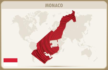 monaco: MONACO map graphic vector. Illustration