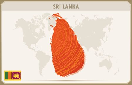 sri lanka: SRI LANKA map graphic vector.