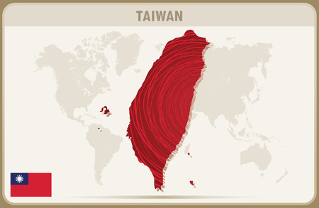 TAIWAN map graphic vector.