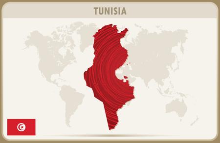 tunisia: TUNISIA map graphic vector. Illustration