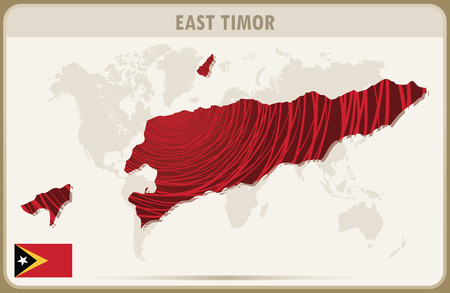 timor: EAST TIMOR map graphic vector.