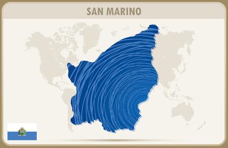 san marino: SAN MARINO map graphic vector. Illustration
