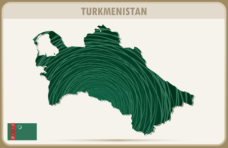 turkmenistan: TURKMENISTAN map graphic vector.