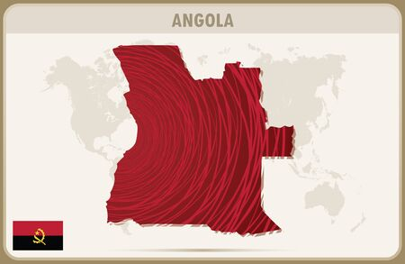 angola: ANGOLA map graphic vector.