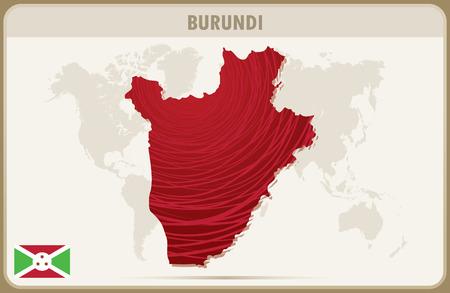 burundi: BURUNDI map graphic vector.