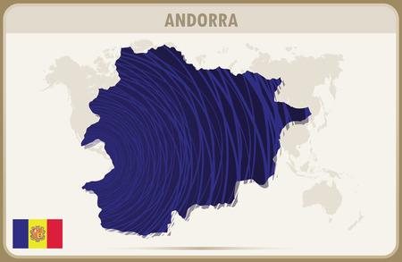 andorra: ANDORRA map graphic vector.