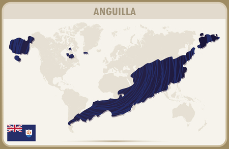 anguilla: ANGUILLA map graphic vector.