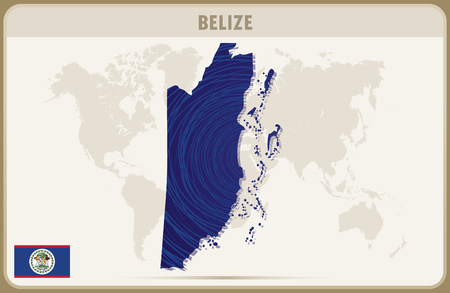 belize: BELIZE map graphic vector.
