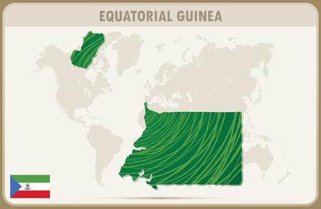 equatorial guinea: EQUATORIAL GUINEA map graphic vector.