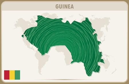 guinea: GUINEA map graphic vector. Illustration