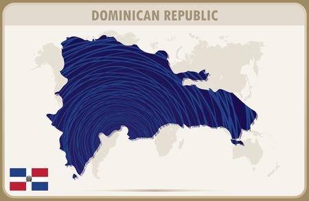 dominican: DOMINICAN REPUBLIC map graphic vector.
