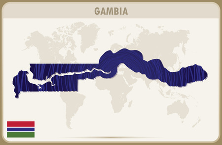 gambia: GAMBIA map graphic vector. Illustration