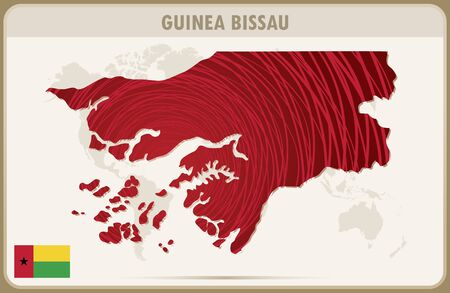 guinea bissau: GUINEA BISSAU map graphic vector.