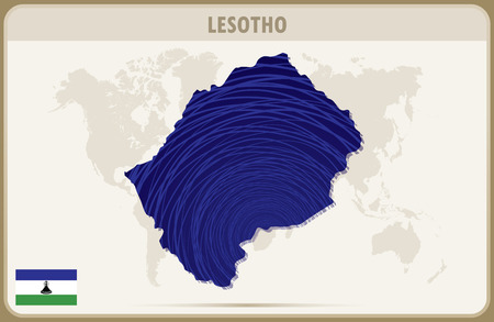 lesotho: LESOTHO map graphic vector.