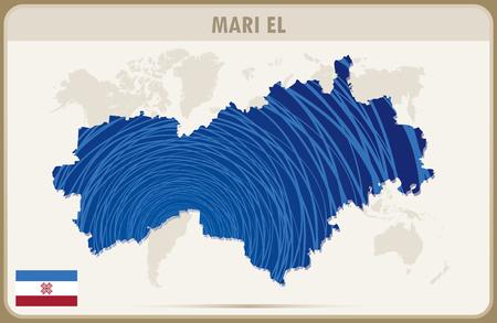 graphic: MARI EL map graphic vector.