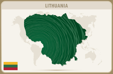 graphic: LITHUANIA map graphic vector. Illustration