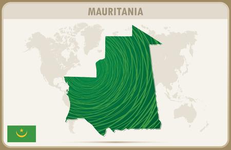 mauritania: MAURITANIA map graphic vector.