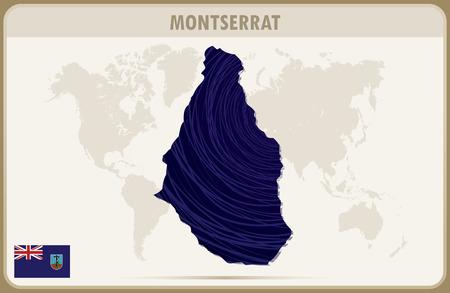 montserrat: MONTSERRAT map graphic vector.