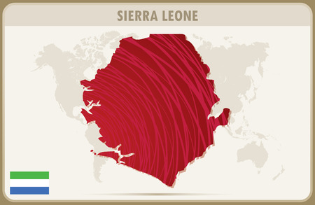 sierra leone: SIERRA LEONE map graphic vector. Illustration