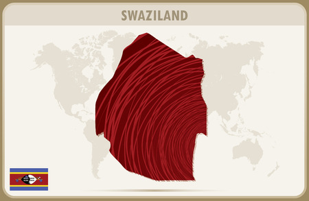 swaziland: SWAZILAND map graphic vector. Illustration