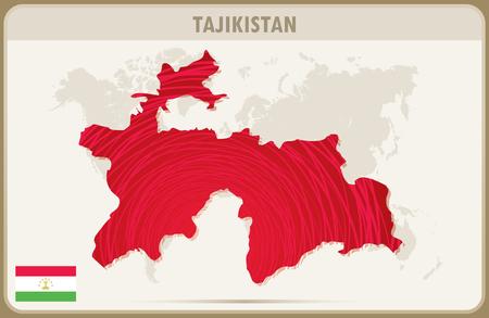 tajikistan: TAJIKISTAN map graphic vector.