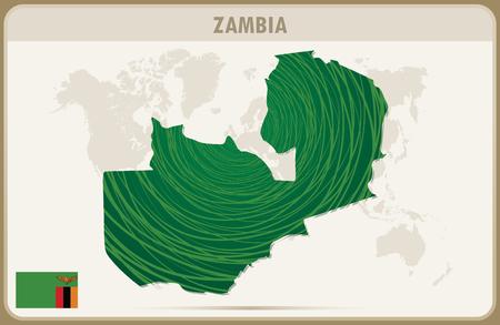 zambia: ZAMBIA map graphic vector.