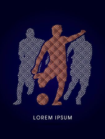 contestant: Soccer, football, player silhouette, designed using luxury square graphic vector.