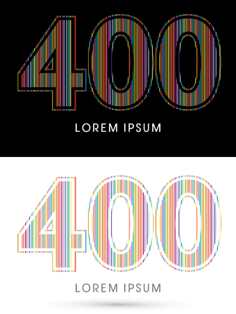 beam with joy: 400 ,Colorful Font, designed using colorful line graphic vector.