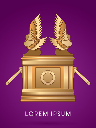 Ark of the Covenant. Designed using Gold colors graphic vector.