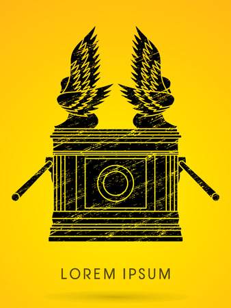 Ark of the Covenant. Designed using grunge brush graphic vector.