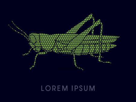 hopper: Grasshopper, designed using line triangle pattern graphic vector.