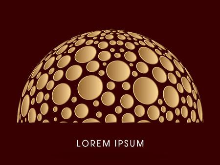 Estratto costruzione, cupola, progettati utilizzando punti d'oro grafica vettoriale