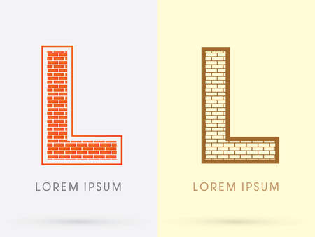 industrial complex: L, Brick, Construction font graphic design.