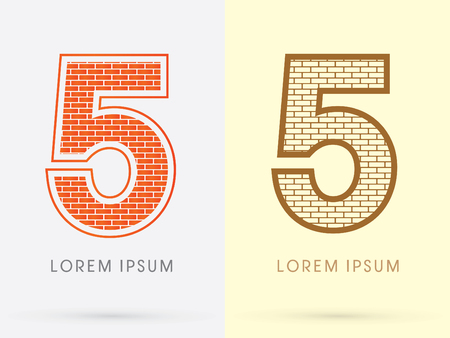 industrial complex: 5, Brick, Construction font graphic design. Illustration
