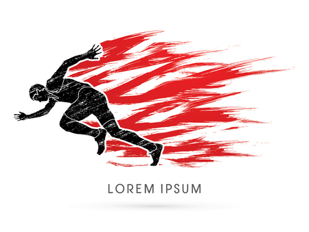 dirty t shirt: Running speed designed using grunge brush graphic vector. Illustration