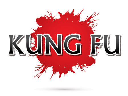 fu: Kung Fu, Font , text  graphic vector Illustration