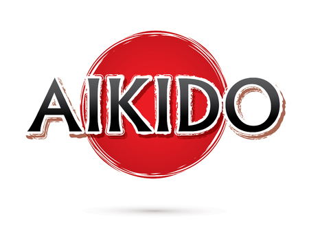 Aikido, Font , text  graphic vector Illustration