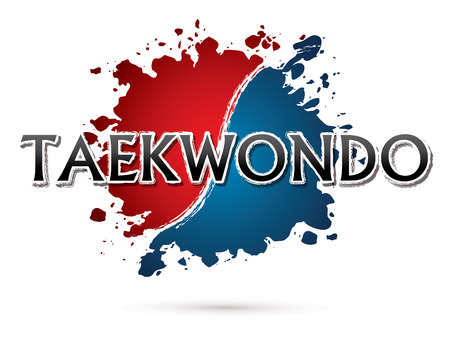 Taekwondo, lettertype, tekst grafische vector