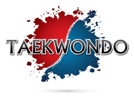 Taekwondo, Font , text  graphic vector Illustration