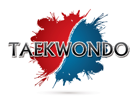 Taekwondo, Font , text  graphic vector  イラスト・ベクター素材
