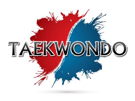 Taekwondo, Font , text  graphic vector Stock Illustratie