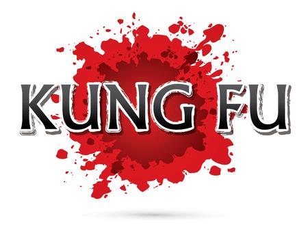 kung: Kung Fu, Font , text  graphic vector Illustration
