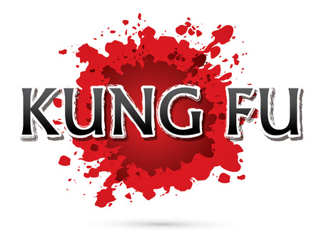 Kung Fu, Font , text  graphic vector Illustration