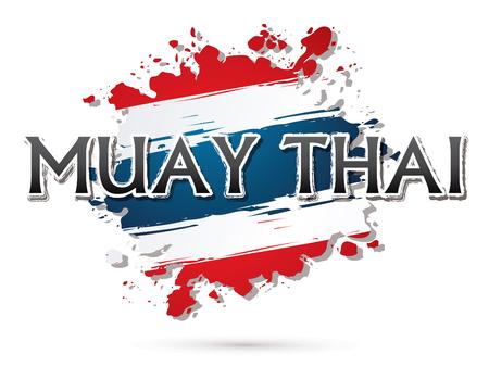 thai flag: Muay Thai, Font , text  graphic vector