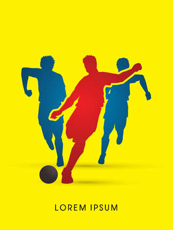 poach: Soccer players, Running graphic vector